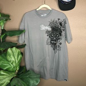 Rip Curl Gray Skull Slim Fit Shirt XXL